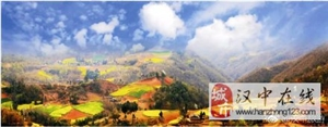洋县竟私藏了这样一座小村庄,美景惊艳了四季