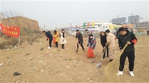 合阳县住建局:党员志愿服务队强化辖区环境卫生治理