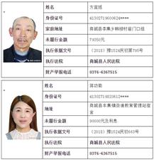 """曝光!商城法院�l布最新""""老�""""名�危�最高欠款114�f多…"""