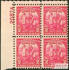 世界上第一枚植树节邮票!!
