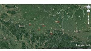 原来固始城区比潢川大很多!不信看卫星图