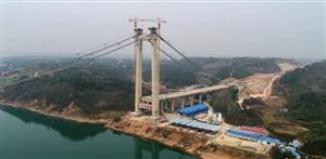 航拍:建设中的白洋长江大桥(3月9日),预计2020年通车