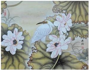 马萍珠 |工笔画《雅风》