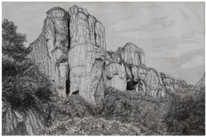 卢传艺 | 钢笔画《无限风光在险峰》