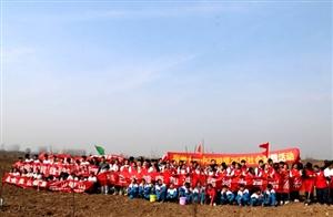 宿州市400余中小学生公益植树