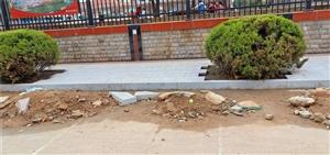 滁州市第二小学的门口围墙的建筑垃圾什么时间清理?