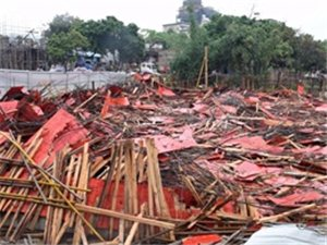 警示|河山老药厂后面违建小产权房被拆除