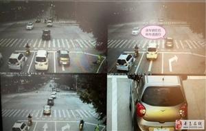 寻乌县城北红绿灯路口新设右转车道不允许直行,违者将被处罚