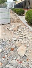 滁州市人民广场围墙改造的建筑垃圾两个月不清理