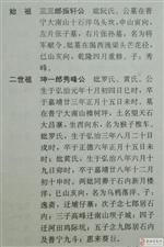 求石内张氏相关族谱
