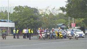 洋浦交警支队开展摩托车专项整治行动;