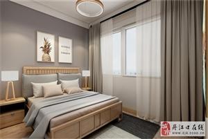 现代中式风三居,原木色与暖灰色