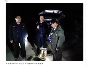 桐城市农业农村局渔政执法人员查获一起非法电捕鱼案件