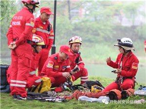 开化县民安公益救援中心开展绳索训练、强化绳索救援的技能水平