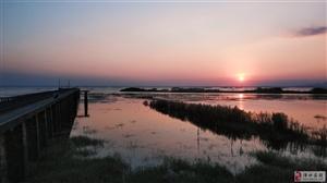 石臼湖落日