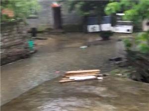 塔山街道�k一到下雨就像�q大水!