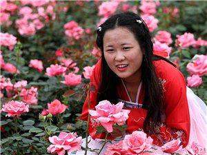 少女与花儿―4月25日摄于咸宁