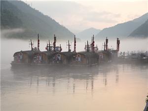 雾漫江城似仙境