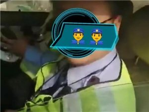 汉中交警不系安全带,被市民质问!