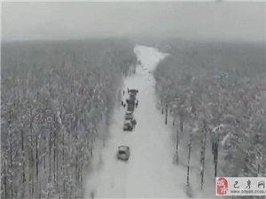 越野车友冬季穿越巴彦县黑山林场现场视频