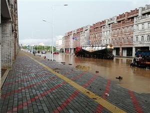 琼海市百达万泉骑楼印象昨晚淹水情况
