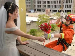 暖心!隆昌消防战士的特别版婚纱大片,背后的故事让人动容――