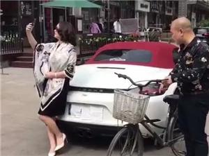 浙江一保时捷女司机停车拍抖音,被网警盯上了!之后,她做了一个决定