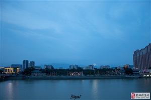 河婆美丽的夜景
