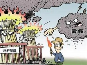 秸秆禁烧;|;为了嘉祥的蓝天!;请大家禁止焚烧秸秆!