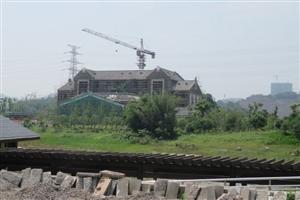 今天去参观了,泸州建设中的�L江湿地公园