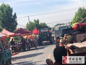 店子镇大王村集市严重影响道路交通便利