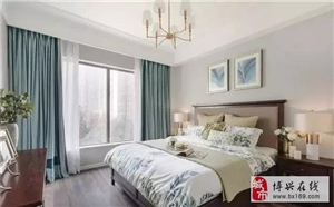 110�O现代美式三居室,石膏线背景墙和吊顶简单大方真漂亮02