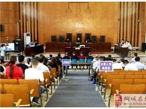 桐城法院一审开庭审理被告人江某某等5人涉恶犯罪集团案