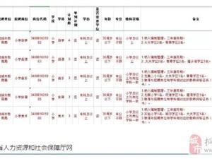 2019年度安徽省中小学新任教师公开招聘公告(附桐城岗位表)
