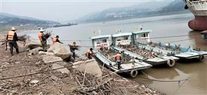 清漂工人扫除忙 清理垃圾50多吨