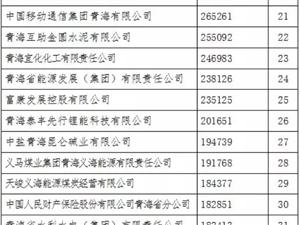 """2019""""青海企�I50��""""名�谓��"""