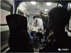 潢川一男子头部撞碎挡风玻璃,吓得动弹不得