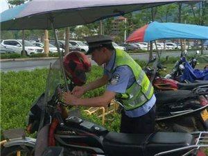 雷霆行动!萍乡交警两个月拆除晴雨伞4600把!