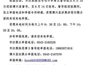 滨州市扫黑除恶第五督导组进驻博兴公告