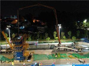 滁宁城际铁路一期工程中铁四局首墩成功浇