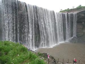 打卡岳池嘉陵江大瀑布(高低坑瀑布)