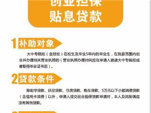 永春县创业担保贴息贷款
