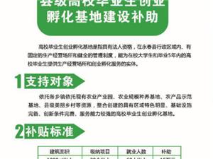 永春县县级高校毕业生创业孵化基地建设补助