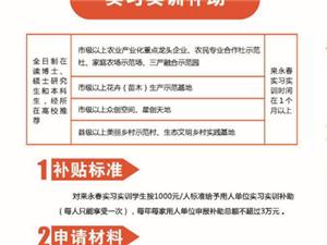 永春县实习实训补助