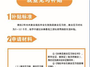 永春县就业见习补贴