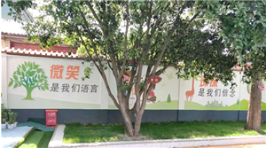 金沙平台网址二幼:墙体宣传画助力城市创卫