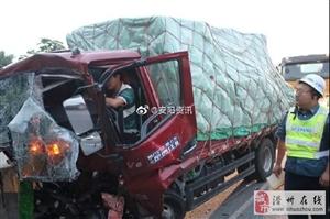 【险】凌晨高速追尾,两人被困,滑县消防火速救援!