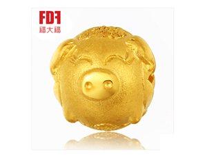 福大福FDF黄金足金999转运珠十二生肖转运猪