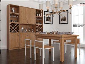 2017-16奥伽桃木  酒柜 餐桌