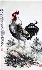 2017写意山水、鸡